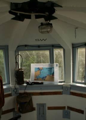 Innenansicht des Grenzwachturm in Kühlungsborn
