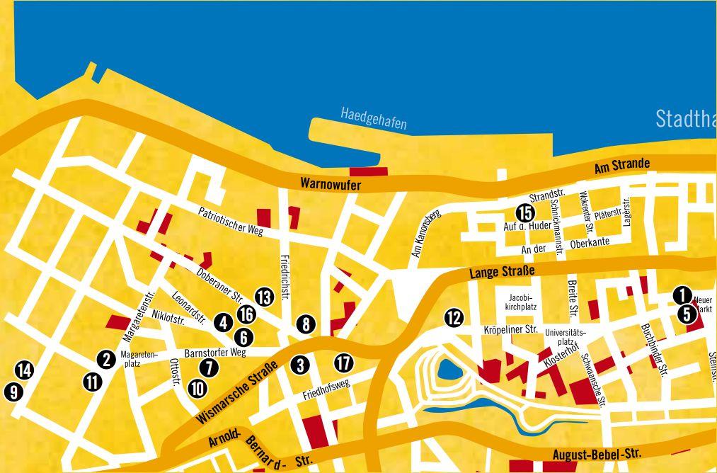 Stadtplan Honky Tonk Rostock 2016