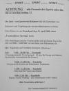 Programm des vereinsoffenen Sporttag des Spiel- und Sportverein Kritzmow