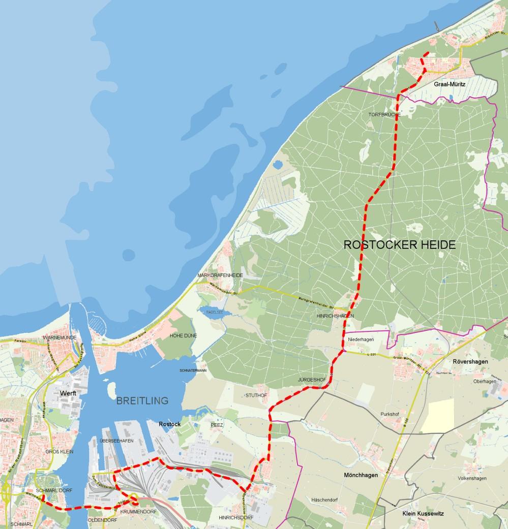Strecke Warnowtour 2012